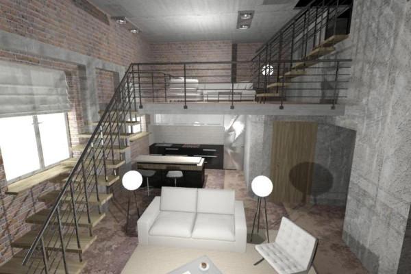 Проект дизайна квартиры в стиле Лофт