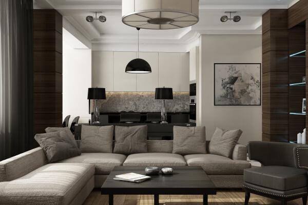 Дизайн квартиры на Зеленодольской 113 м2