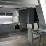 Дизайн кухни в двухэтажной квартире, лофт