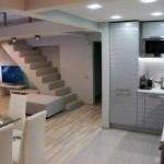 Дизайн кухни в двухэтажной квартире в стиле лофт