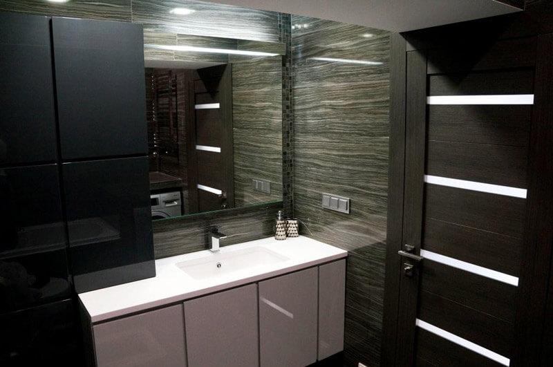 Ванная комната в квартире с антресолью на Ленинградском проспекте
