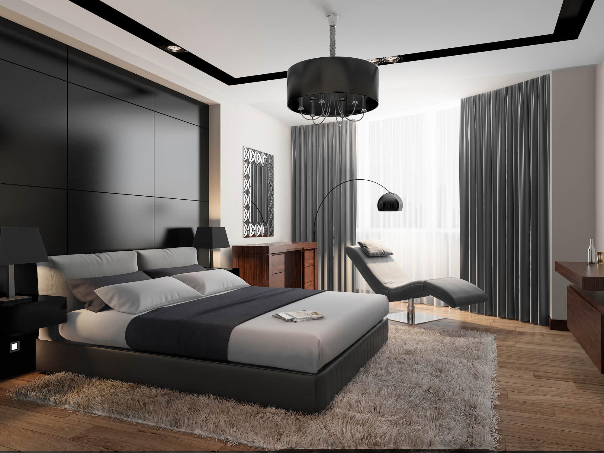 Проект мужской спальни