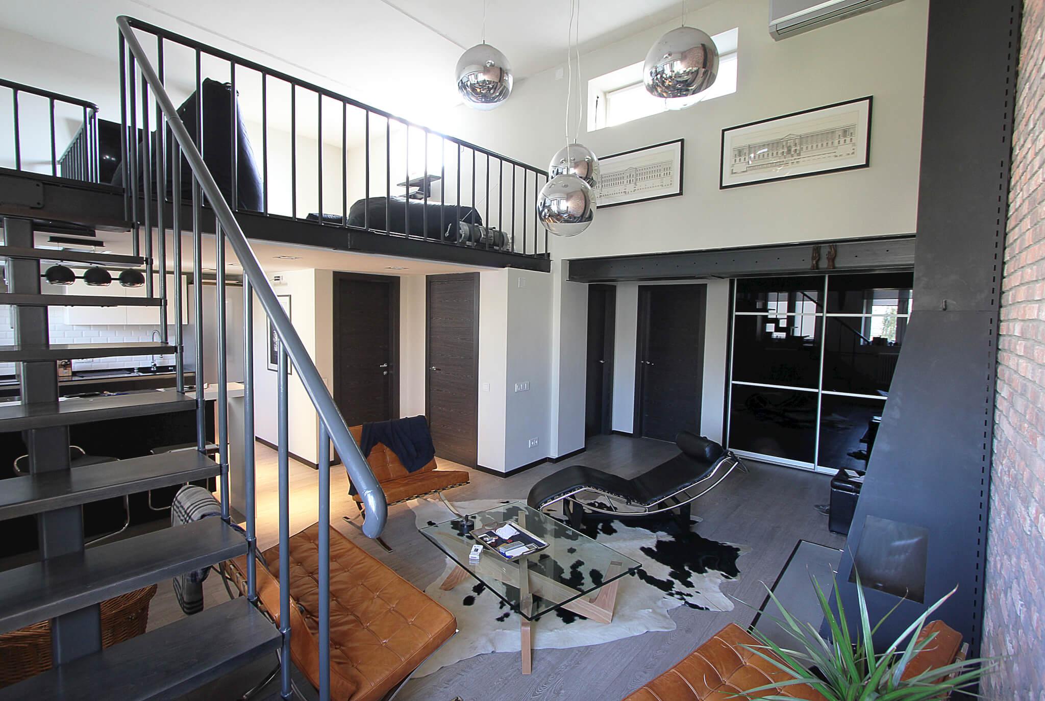 Двухуровневая квартира лофт дизайн