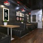Современный дизайн кафе, ресторана