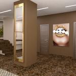 дизайна интерьера ювелирного магазина в 3д