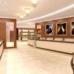 Дизайн ювелирного магазина светлый
