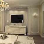 Светлый дизайн квартиры классика