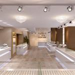 Проект дизайна интерьера ювелирного магазина Корона