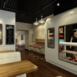 Эскиз дизайна кофейни