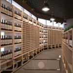 Винный магазин дизайн визуализация