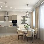 красивая современная кухня в квартире