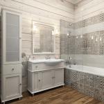 Дизайн санузла в деревянном доме