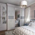 Дизайн спальни в доме из бруса