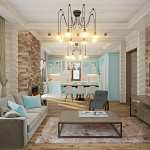 Дизайн гостиной в деревянном доме фото