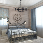 Декор спальни в деревянном доме