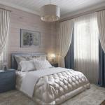 Спальня в доме из бруса