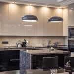 Дизайн кухни глянцевой