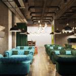 Интерьер кальянной цвет мебели