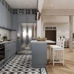 Кухня в деревянном доме из бруса