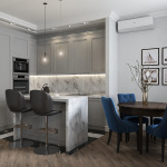 Кухня - столовая в современном стиле