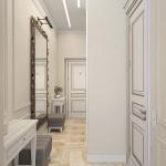 узкий светлый коридор дизайн