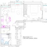 Планировка современной квартиры 70 кв 2- яФилевская 6